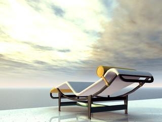 Urlaubsimpression mit Liegestuhl