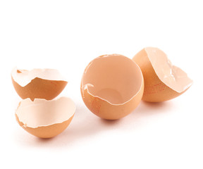 Broken egg shell composition
