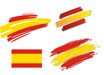 Brush Flags Spain
