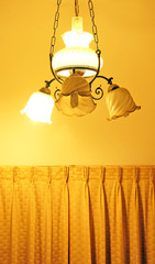 lamp and curtain