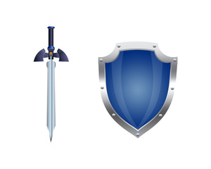illustration of a shield and a sword