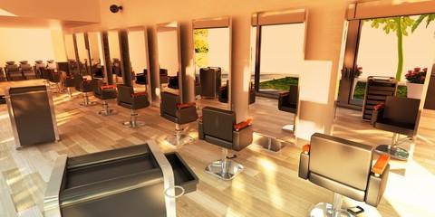 Hairstylist makeup Saloon Parrucchiere Pettinatura 3d