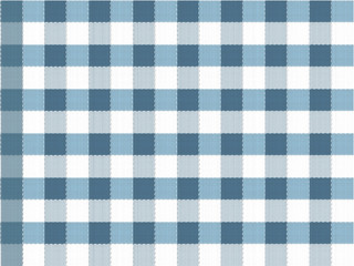 Blue table cloth seamless vector pattern