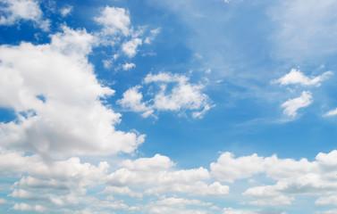 white billows in the sky