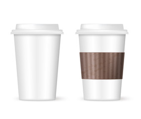 two coffee cups to go
