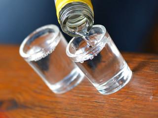 Alcohol poured into a glass
