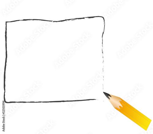 Mozzicone Di Matita Nera Disegna Una Cornice Immagini E Vettoriali