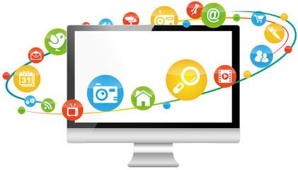 social media marketing computer pc