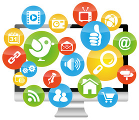 Social Media Computer Marketing Network