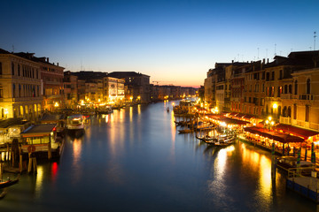 Canale Grande at dusk, Venice, Italy