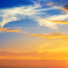beautiful sunrise in the clouds