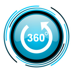 panorama blue circle glossy icon