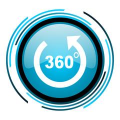 panorama blue circle glossy icon