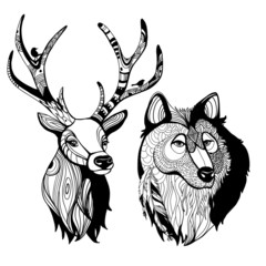 Awesome handmade graphic animals