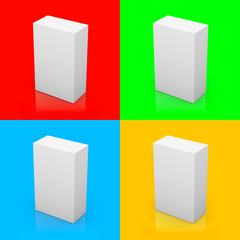 Blank box on color background series
