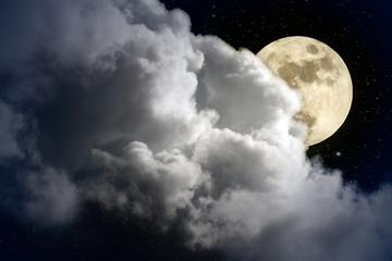 Fotobehang Volle maan Full moon night