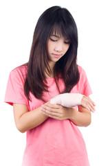 Injured  arm woman