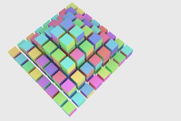 ピラミッドのイメージのブロック