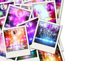 Abstract disco balls_polaroids.