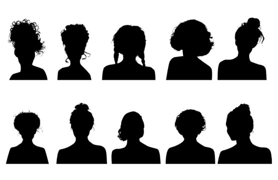 Women heads silhouettes
