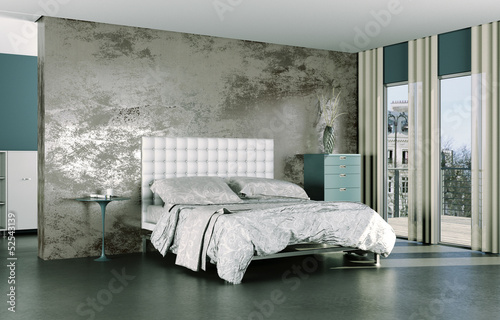 wohndesign schlafzimmer modern stockfotos und lizenzfreie bilder auf bild 52543139. Black Bedroom Furniture Sets. Home Design Ideas