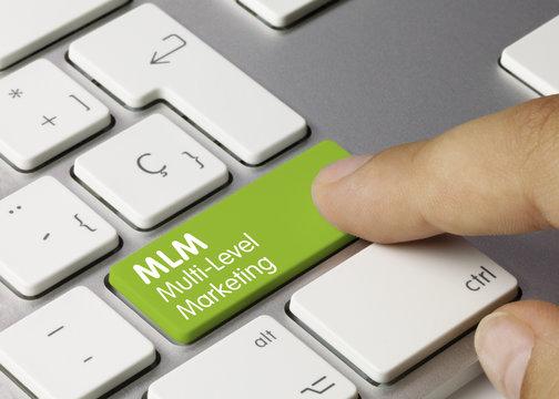 MLM, Multi Level Marketing keyboard Finger