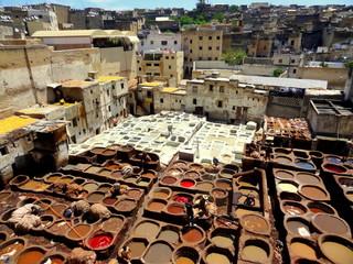 les teinturiers, Maroc