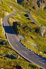 Fototapete - Alps road