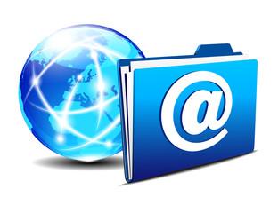 email folder and communication Internet World Europe