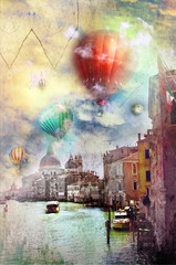 Printed roller blinds Imagination Venice dreams series