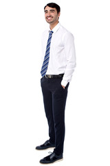 Young business professional, full length portrait