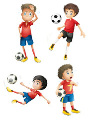 A team of soccer players