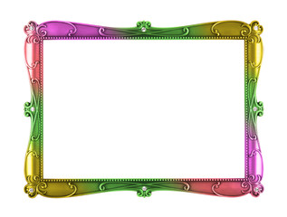 rainbow color metal art frame