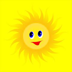 animated cartoon summer sun