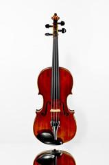 Alte Violine über Spiegelfläche
