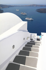 Stairway of Santorini island in Greece
