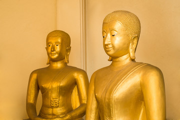 two buddha in thai temple
