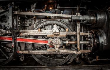 Ancient steam train wheels