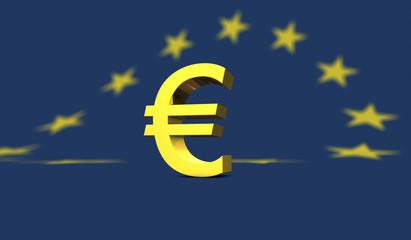 glänzendes Eurozeichen- shiny euro symbol