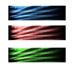 three abstract banner