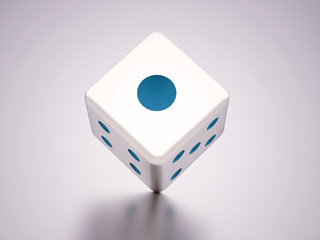 Dice with blue dots