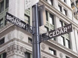 ニューヨークの標識