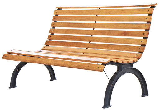 Beautiful bench separately on a white background