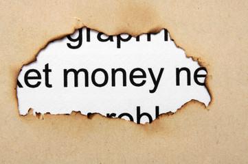 Money paper hole