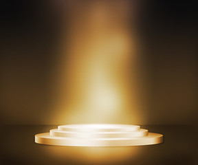Golden Podium Spotlight Background