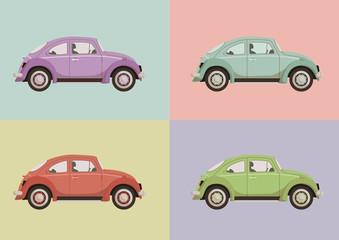 Farbenfrohes Autoset (Vektor)