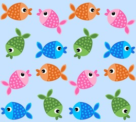 seamless fish pattern background