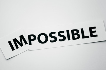 Word impossible cutted to be possible