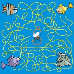 maze - fish