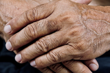 old man hand